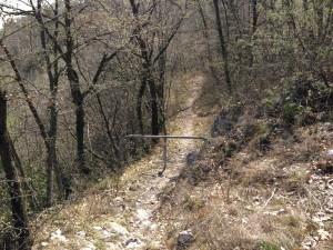 Sentiero 12 - Sbarra in ferro