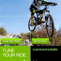 Schermata 1 Applicazione regolazione sospensioni Cannondale