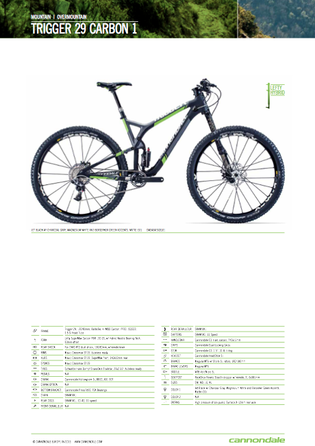 Catalogo Cannondale MTB 2014